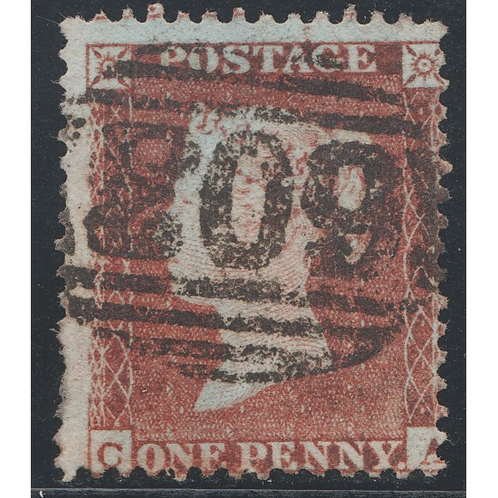 1855 Penny Red Stamp Spec C2 Plate 201 (CA)