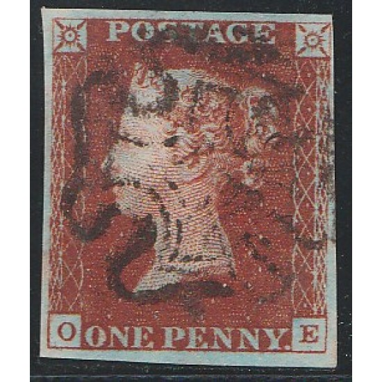 Penny Red Black Stamp Plate 11 (OE)