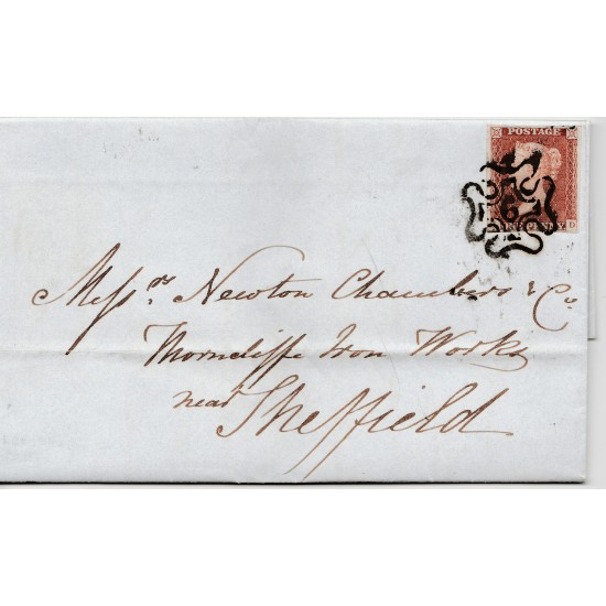 Penny Red Stamp on cover  (LD) 6 in  MX