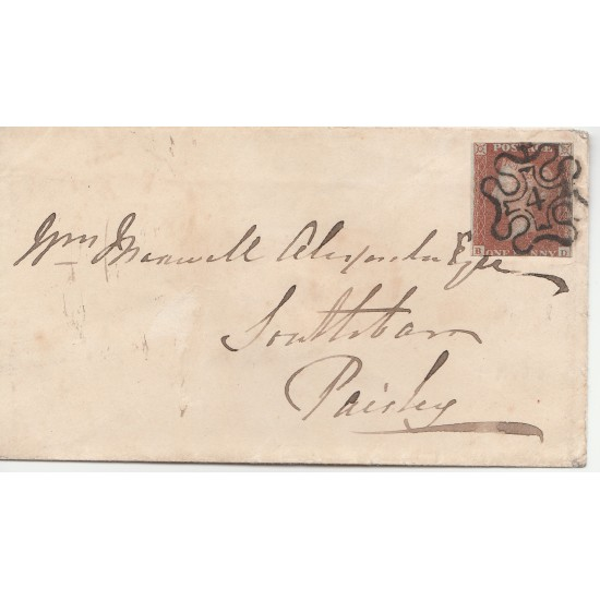 Penny Red Stamp  on envelope  (BD) 4 in  MX