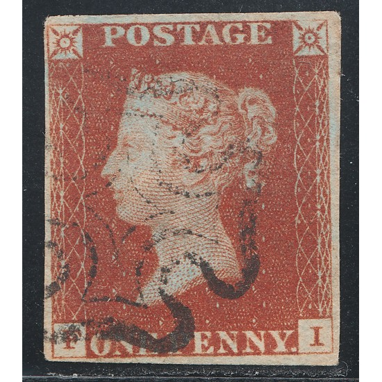 1841 Penny Red Stamp Spec BS2 Plate 13 (FI)