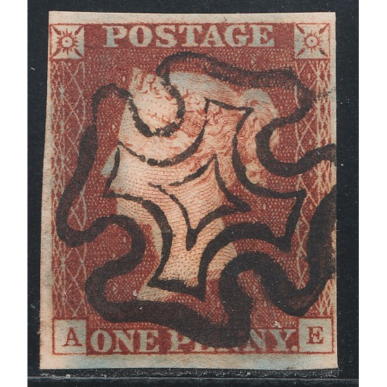 1841 Penny Red Stamp Spec BS6h Plate 17 (AE) State 2