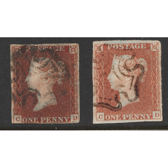 1841 Penny Red Stamp Spec BS6h Plate 17 (CD) States 1& 2