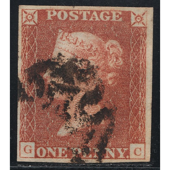 1842 Penny Red Stamp Plate 27 (GC) State 2