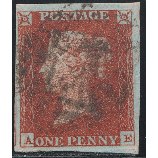 1843 Penny Red Stamp Plate 40 (AE)
