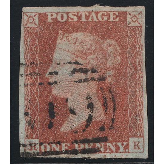 1845 Penny Red Stamp Plate 59 (RK) Re-Entry