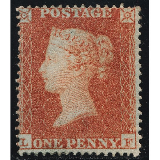 """1850 Penny Red Stamp """"Archer"""" Plate 100 (LF) M/Mint SG16b Spec CE2"""