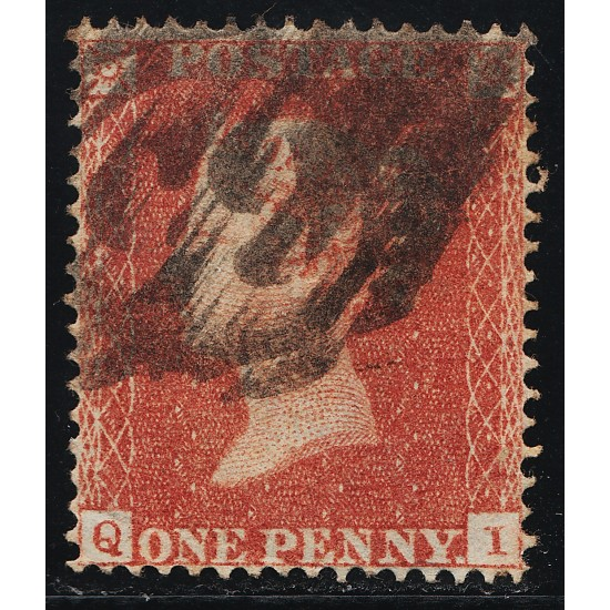 """1850 Penny Red Stamp """"Archer"""" Plate 101 (QI) SG16b Spec CE2"""