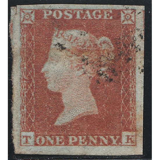 1851 Penny Red Stamp Plate 122 (TK)