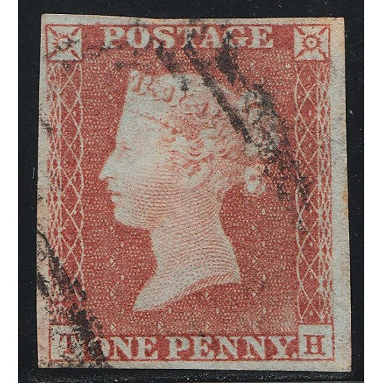 1852 Penny Red Stamp Plate 140 (TH)