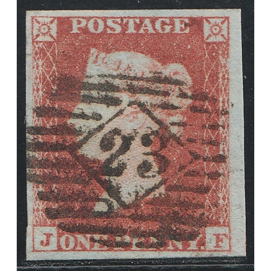 1852 Penny Red Stamp Plate 147 (JF)