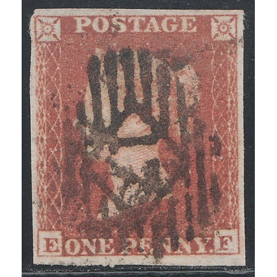 1852 Penny Red Stamp Plate 161 (EF)