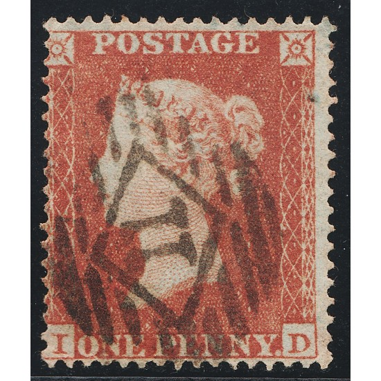 1854 Penny Red Stamp Spec C1 Plate R5 (ID)