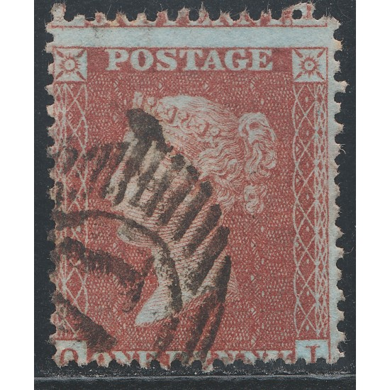 1855  Penny Red Stamp C3 Plate 20 (QI)  Cert