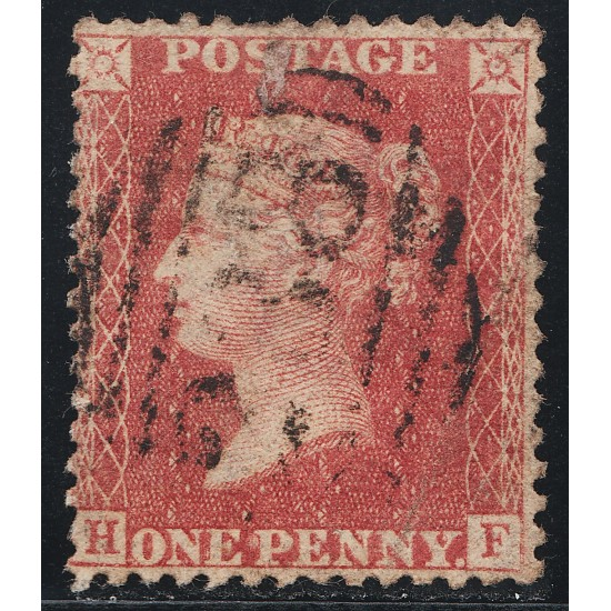 1857 Penny Red Stamp Spec C10 Plate  45 (HF)