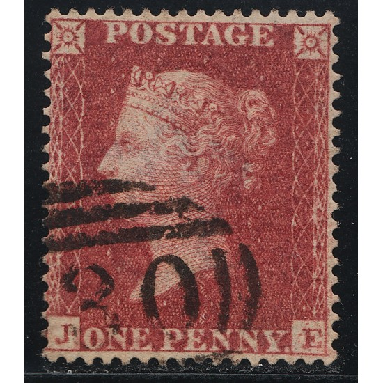 1857 Penny Red Stamp Spec C11 Plate 56 (JE) Constant Variety