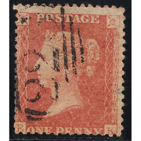 1857 Penny Red Stamp Spec C9 Plate  45 (EK)