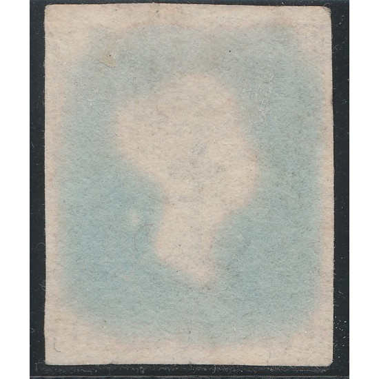 1849 2d Blue Stamp SG 15aa Plate 4 (DF) Thicker Lavender Paper