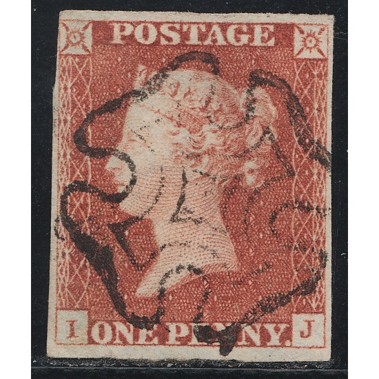 Penny Red Black Stamp Plate 1b (IJ)