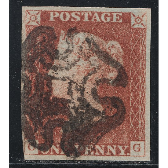 Penny Red Black Stamp Plate 1c State 3 (CG)