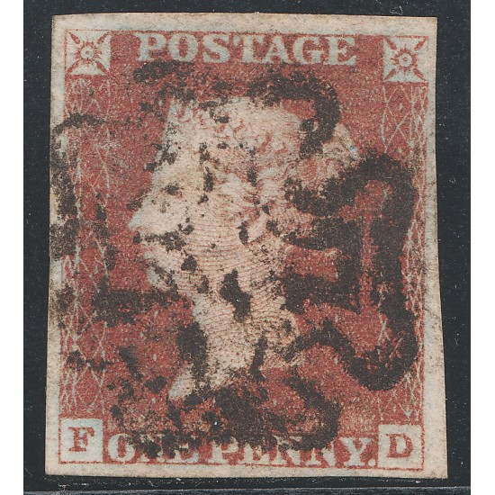 Penny Red Stamp Black Plate 1b (FD)