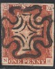 Penny Red Stamp  Black Plate 8 (NH)  State 2