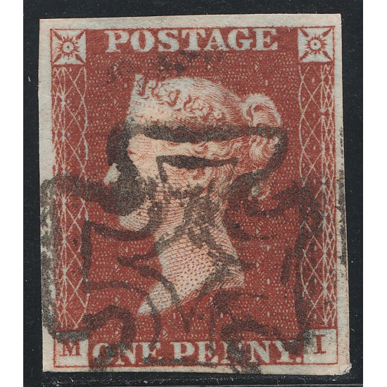 Penny Red Stamp  Plate 42 (MI)  Dublin MX